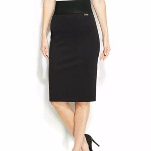 Calvin Klein Wide Waist Band Power Stretch Skirt M
